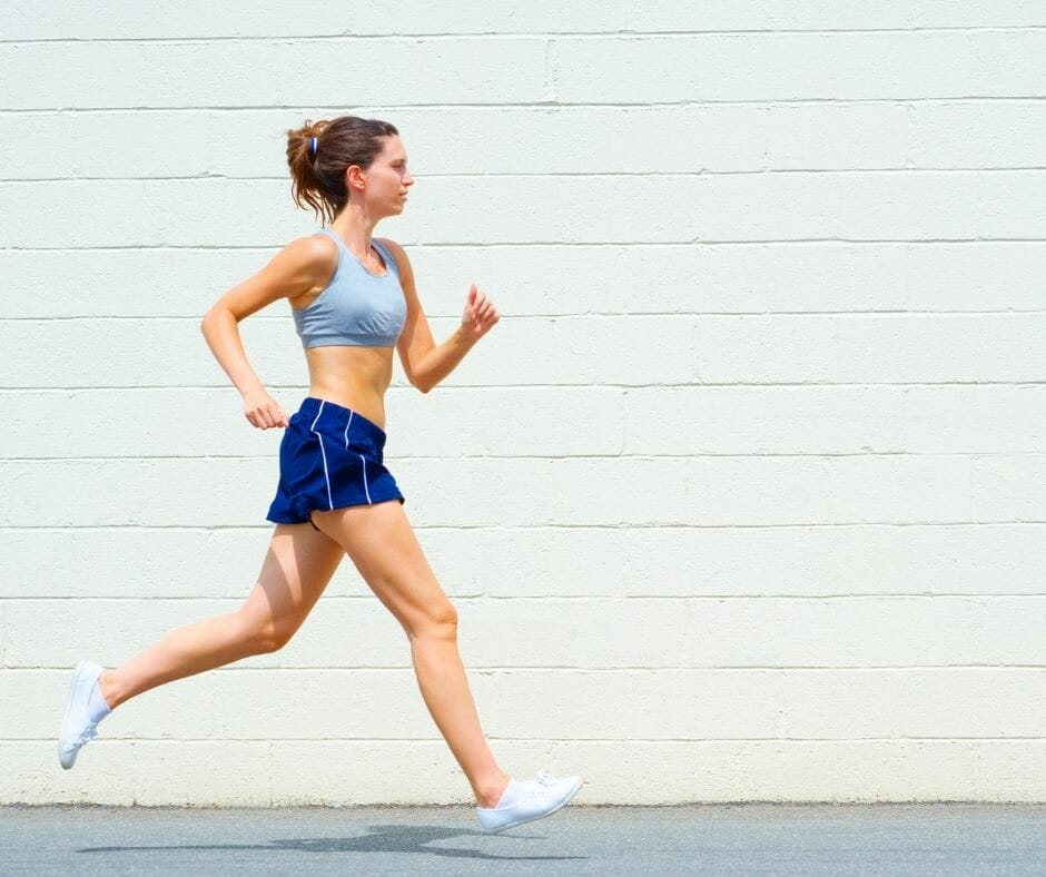 woman running for exercise