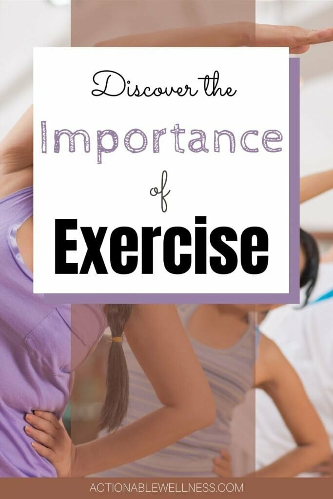 When we think of the importance of exercise, we think of weight loss and muscle tone, but there's more than that. Discover the importance of exercise.