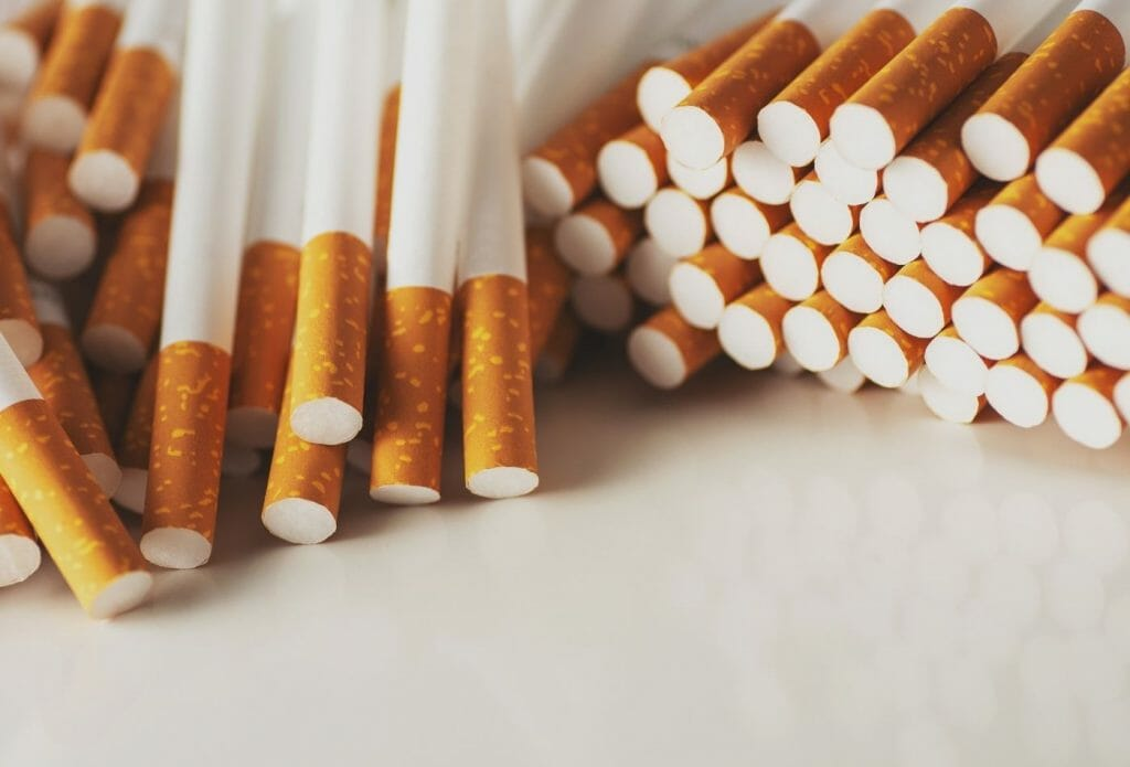 big pile of cigarettes