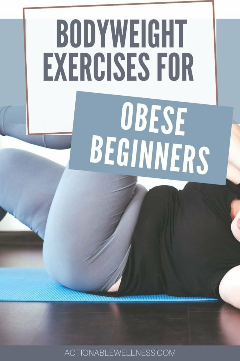 overweight woman doing exercises