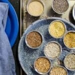 Ancient grains in bowls on a table